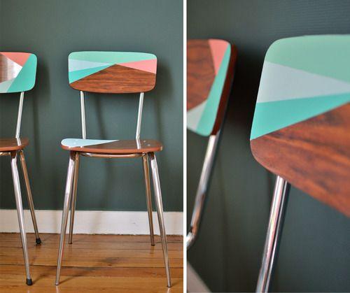 Les chaises en formica les petits meubles - Relooker une chaise en formica ...