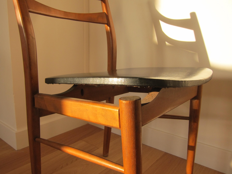 d j adopt chaise scandinave simili cuir noir les. Black Bedroom Furniture Sets. Home Design Ideas