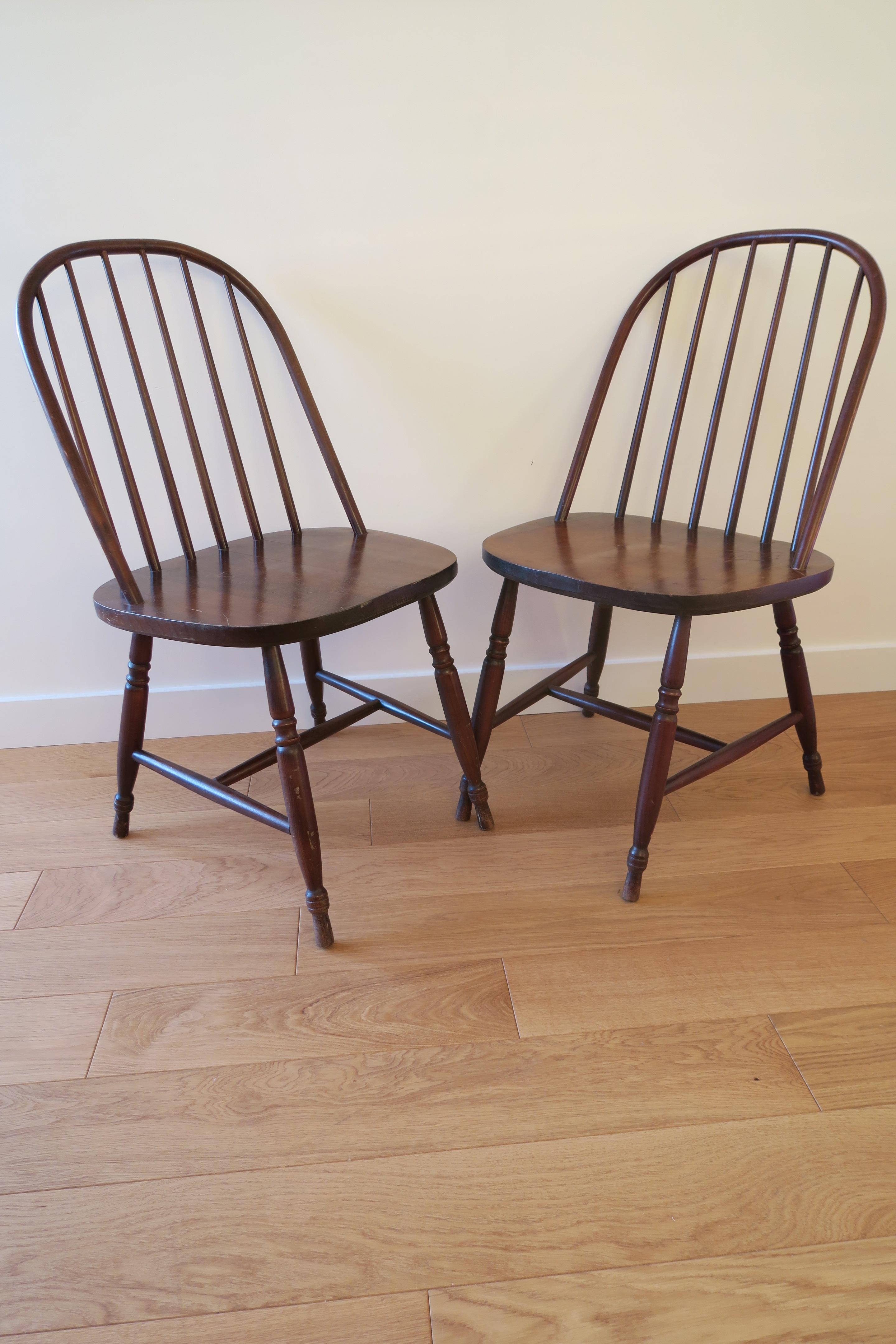 D j adopt chaise vintage barreaux style ercol les for Barreaux de chaise